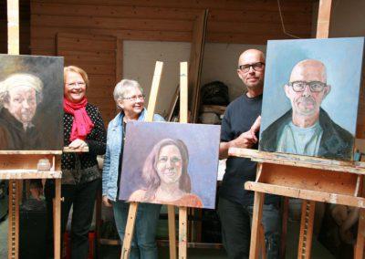 Cursusgroep portretschilderen